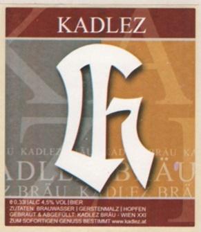 Etikett der Kadlez-Bräu